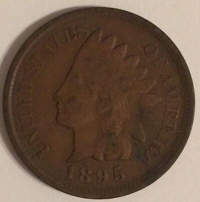 1895 U.S.A Indian Head One Cent coin