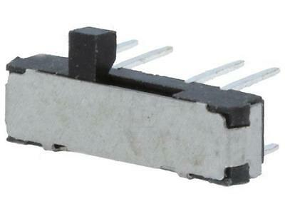 3x MSS-2346 Switch: slide; 3-position; DP3T; 0.3A/6VDC; OFF-ON-ON; -25÷70/ UK