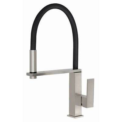 Gooseneck Sink Mixer Flexible Hose Brushed Nickle Kitchen Tap Kitchen Phoenix VE