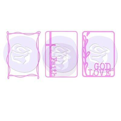 Prima Creating In Faith Collection Stencils Masks Set 3 Pack 980726  2016
