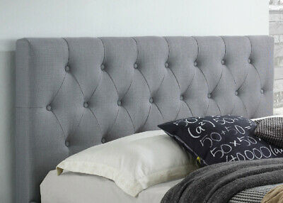 Headboard Upholstered Double Queen King Size Bed Head Fabric For Base/Frame