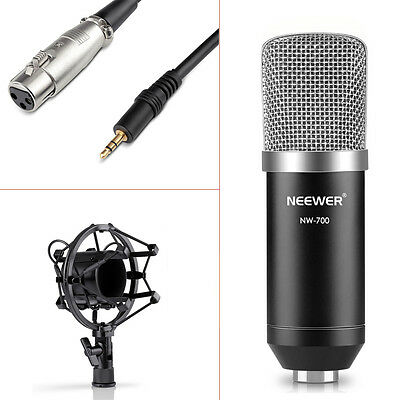 Neewer NW-700 Microphone Condensateur pour Studio Radio Record Enregistrement