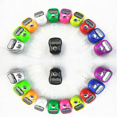 10pcs Mini 5 Digit LCD Electronic Digital Golf Finger Hand Ring Tally Counter