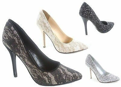 NEW Women's Pointy Toe Slip On Stiletto High Heels  Pumps Shoes Size 5 - 10