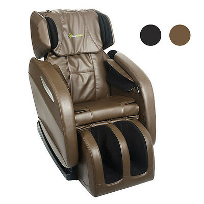 Full Body Shiatsu Massage Chair Recliner w/Heat Stretched Foot Rest Real Relax