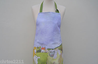 100% Cotton Full Size Apron.  Barley Farm Sheep