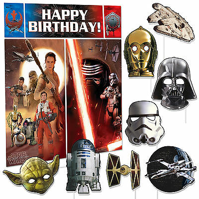 Star Wars Premium Photo Booth Birthday Party Props Kit Fun