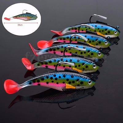 Soft Lifelike Plastic Lures Fishing Lure Bait Tackle Hooks 10cm/25g