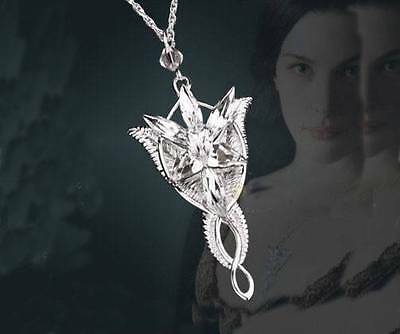 925 Sterling Silver Arwen Evenstar Necklace Pendant -The Lord of the Rings Movie
