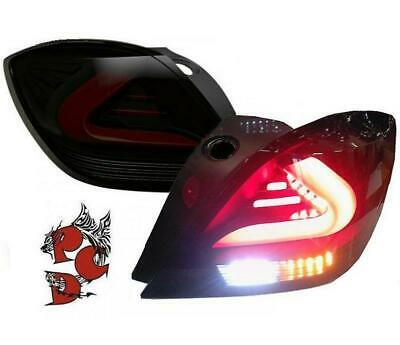 LED TAILLIGHTS OPEL ASTRA H 05-10 VXR 3-DOORS black/smoke carDNA COUPE HATCHBACK