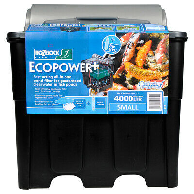 Hozelock Ecopower Pond Filter 4000 Uvc Uv K3 Media Filtration Garden Koi Fish