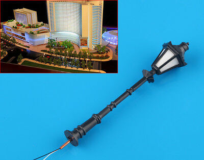 8 pcs Antique Street Lights G Scale 1:25 Model Railway LED Lamppost Lamps