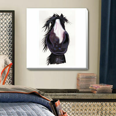 Cute Horse Stretched Canvas Print Framed Wall Art Kids Nursery Decor Painting