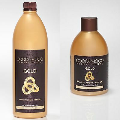 COCOCHOCO 24k GOLD BRAZILIAN KERATIN TREATMENT BLOW DRY HAIR STRAIGHTENING KIT