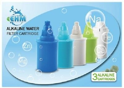 EHM 3 PACK Filter Replacement Cartridge Alkaline Mineral Water Ionizer Pitchers