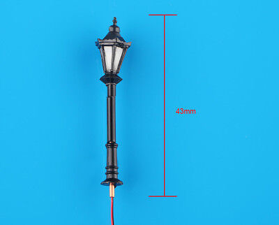 10 x N Scale Model Railway Black 3V LED Lamppost Lamps Street Lights 1:150 New