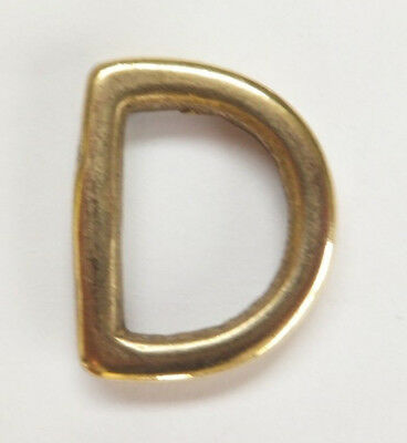 """HEAVY DUTY - 20 mm - 3/4"""" SOLID CAST BRASS D RINGS Dog  Bag Strap Leathercraft"""