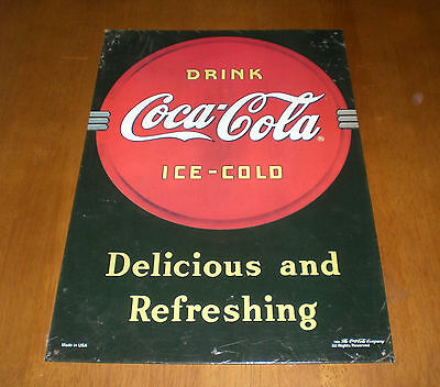 Drink Coke Coca Cola Ice Cold Tin Sign - Delicious And Refreshing