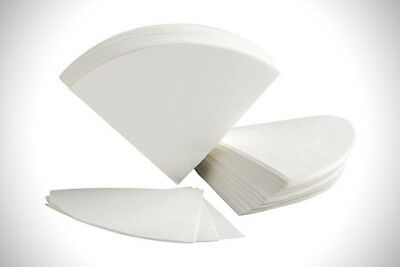 100x Coffee White Cone Filters Quality Paper Unbleached Size 4 - Top Quality