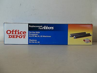Office Depot Black Replacement Fax Ribbons Panasonic* Kx-Fp 80, 81, 85 Machines