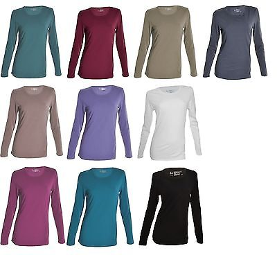 Felina Ladies L/S Layering T-Shirts Soft Modal Cotton  variety of sizes colors