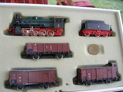 Piko Train set Steam locomotive G 8.2/BR 55 with 3 x Goods wagon KPEV Prussia