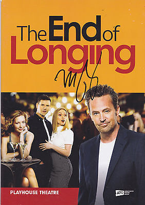 Matthew Perry HAND Signed The Edge of Longing Programme, Autograph, Friends