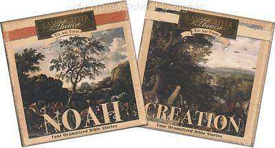 NEW Lot of 2 CREATION and NOAH Audio CD Sets Lamplighter Theatre You Are There