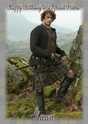 personalised birthday card sam heughan outlander