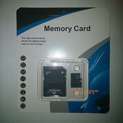 64GB micro SD SDXC Flash TF Memory Card Class 10 FREE SD Adapter Retail Package