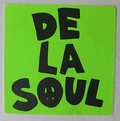 DE LA SOUL 3 Feet High and Rising 1989 US ORG Promo Only STICKER NY Hip Hop