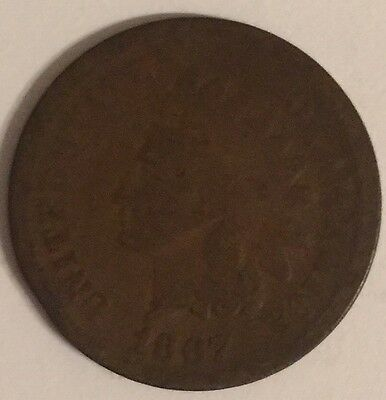 1867 U.S.A Indian Head Cent coin