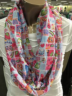Girls Shopkins One Size Infinity Loop Scarf Great Birthday Gift Easter Basket