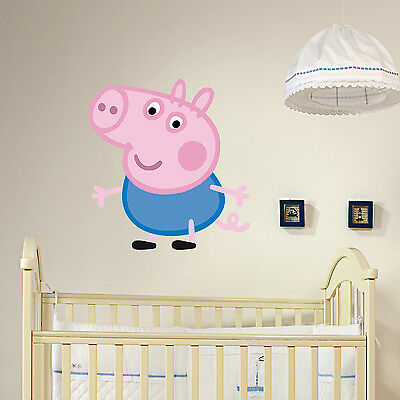 George Pig Kids Boys Girls Bedroom Wall Decal Art Sticker Gift New Peppa Pig Bro