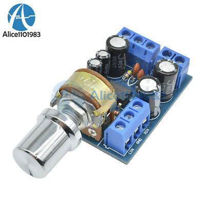TDA2822M Mini 2.0 Channel 1W×2 Stereo Audio Power Amplifier Board DC 5V 12V CAR