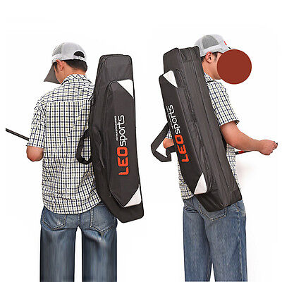 Outdoor Fishing Rod Case Bag Travel Organizer Tackle Tools Storage Two-Layer