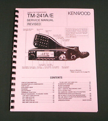 Kenwood TM-241 Service Manual - Premium Card Stock Covers & 28lb Paper!