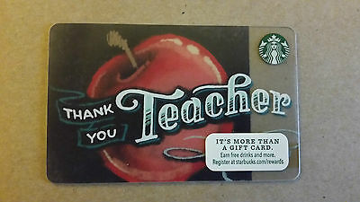 NEW 2013 STARBUCKS THANK YOU TEACHER, Gift Card