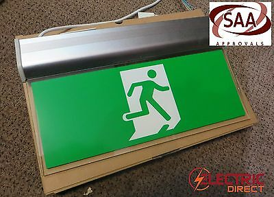 3W LED EMERGENCY EXIT SIGN LIGHT RUNNING MAN DOUBLE SIDED - Universal Mount