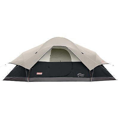 NEW Coleman BLACK Canyon 17-Foot by 10-Foot 8-Person Modified Dome Tent Camping