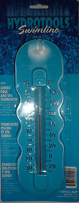 Hydrotools Swimline Jumbo Swimming Pool And Spa Thermometer Blue