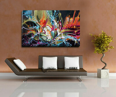 Abstract Pattern Stretched Canvas Print Framed Wall Art Home Decor Painting Gfit