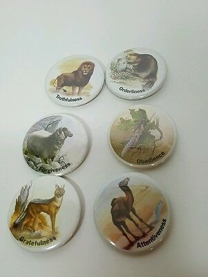 Pinback button badge lot animal ethical inspirations