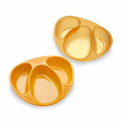 NEW Tommee Tippee Explora Section Plates -2 Pack - Orange - FREE SHIPPING