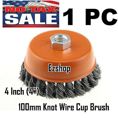 """4"""" Twist Wire Cup Brush 5/8""""-11NC Thread Fits Most Angle grinders"""