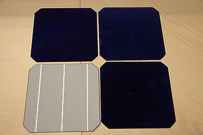 "LOT 10 6""x6"" Unfinished Non-Working Dummy Solar Wafer Silicon with Nitrate"