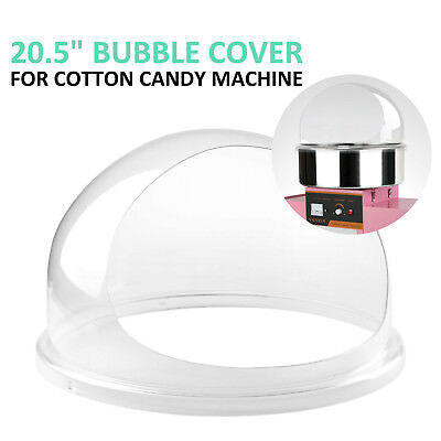 "Candy Floss Machine Cover Dome Opening Cotton Candy Maker Clear Bubble 20.5"" US"