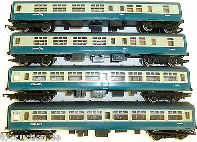 4x Inter City coach Triang Hornby 2x M5232 2x M9439 1:76     å  *