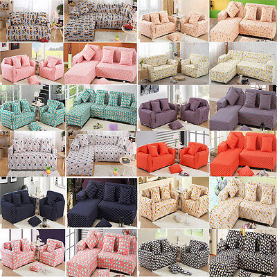 Jacquard 1 2 3 4 Seater Full Cover Stretch Sofa Couch Slipcovers Fitted Washable