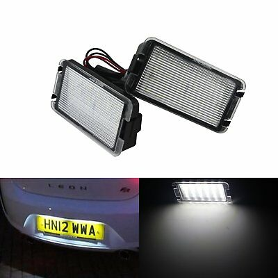 2X LED License Number Plate Light Lamp Seat Cordoba Leon Toledo MK2 MK3 Canbus